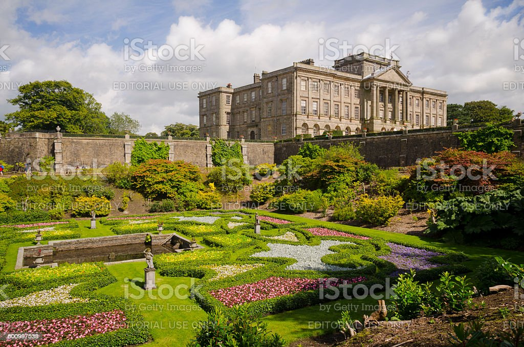Lyme Park gardens,Cheshire. stock photo