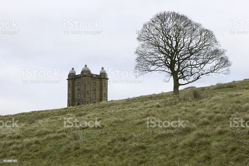 Lyme Park - The Cage in Winter stock photo