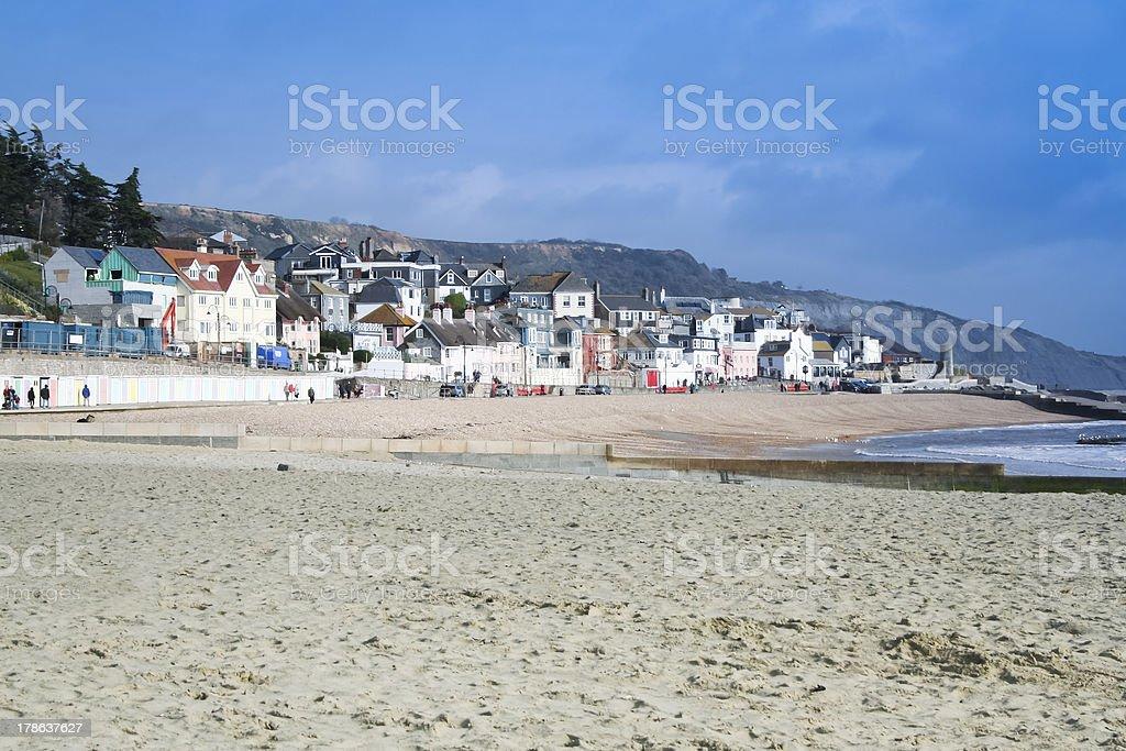 lyme regis beach dorset uk royalty-free stock photo