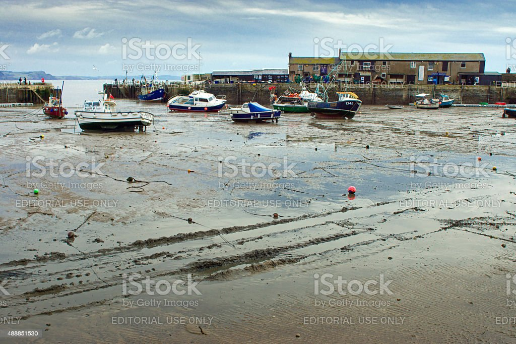 Lyme Regis harbour stock photo