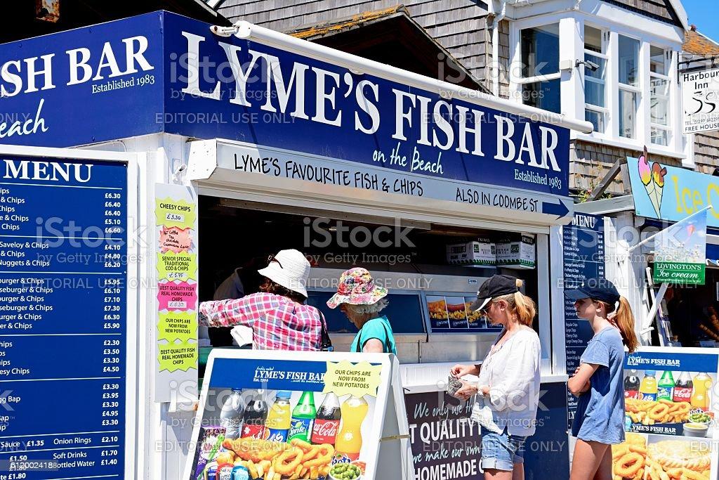 Lymes Fish Bar, Lyme Regis. stock photo