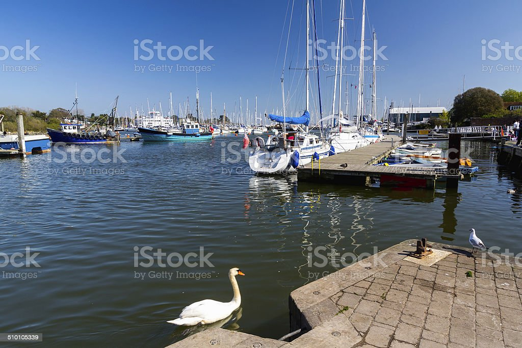 Lymington Hampshire England stock photo