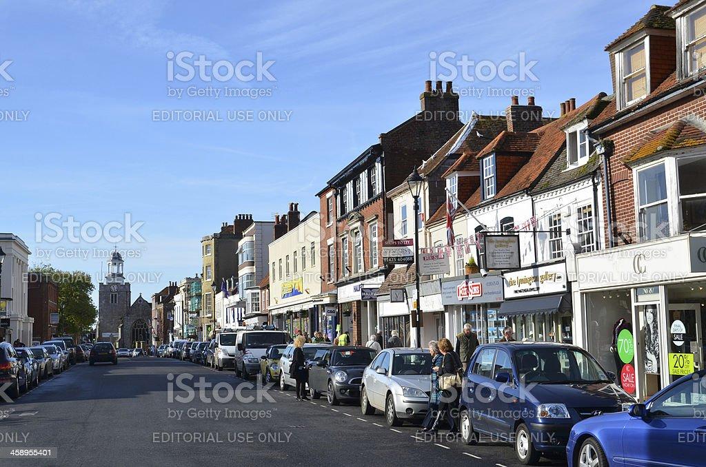 Lymington High Street royalty-free stock photo