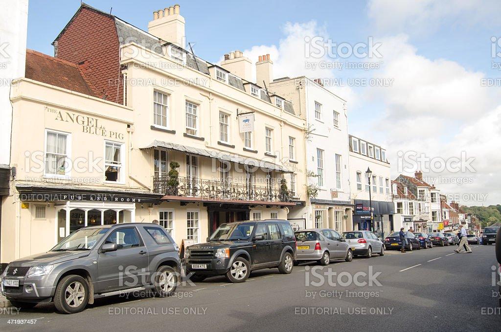 Lymington High Street stock photo