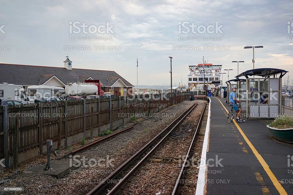Lymington Pier station stock photo