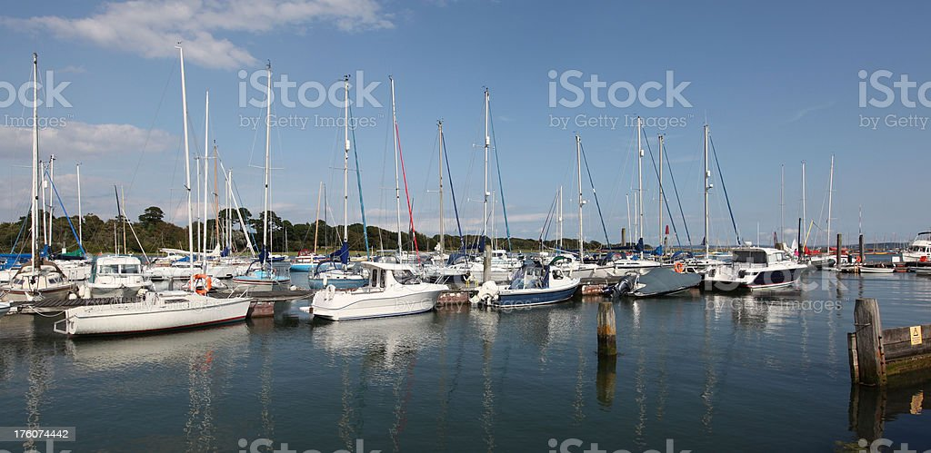 Lymington river harbour stock photo
