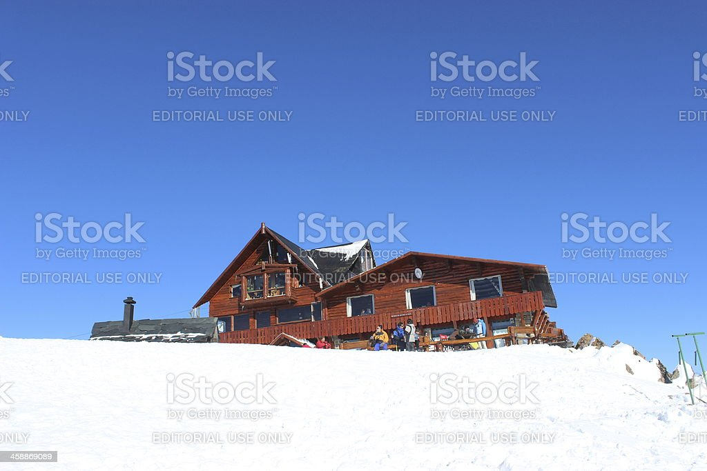 Lynch Refuge at the top of Andes 2 - Patagonia stock photo