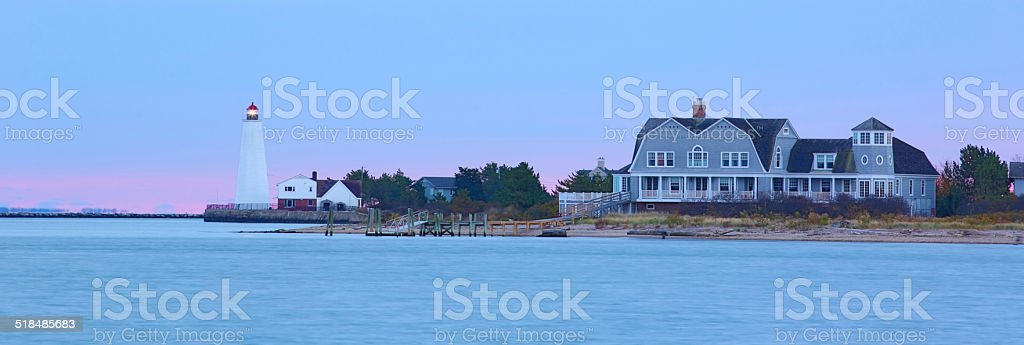 Lynde Point Lighthouse stock photo