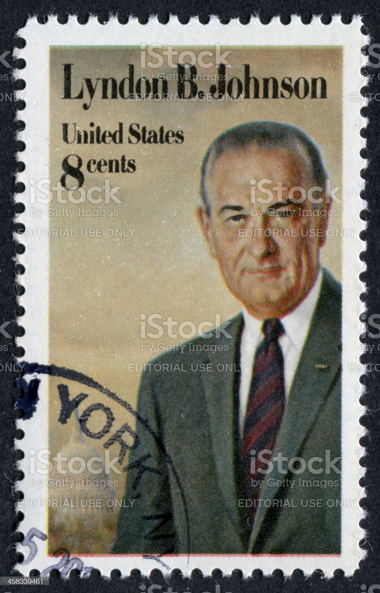 Lyndon Baines Johnson Stamp royalty-free stock photo