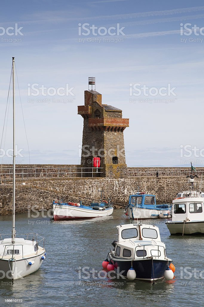 Lynmouth Harbour in Devon UK stock photo