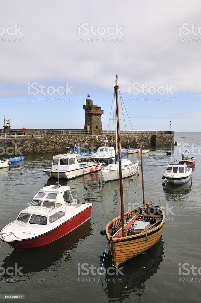 Lynmouth Harbour. stock photo