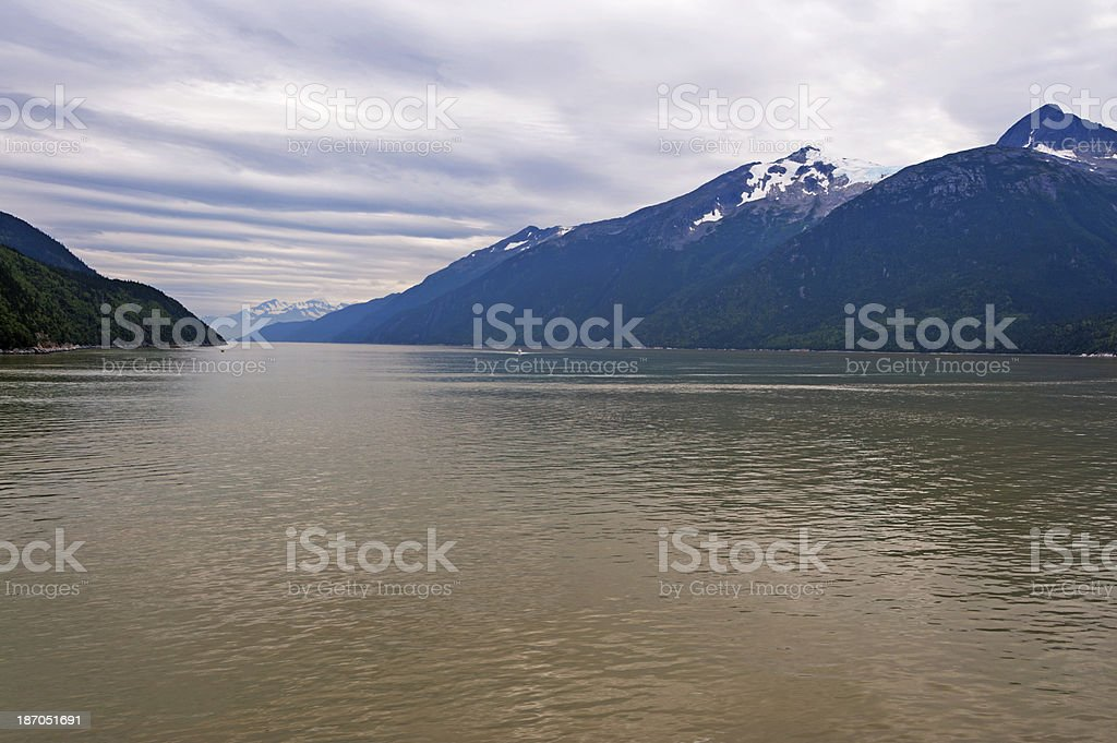 Lynn Canal Fjord at Skagway stock photo