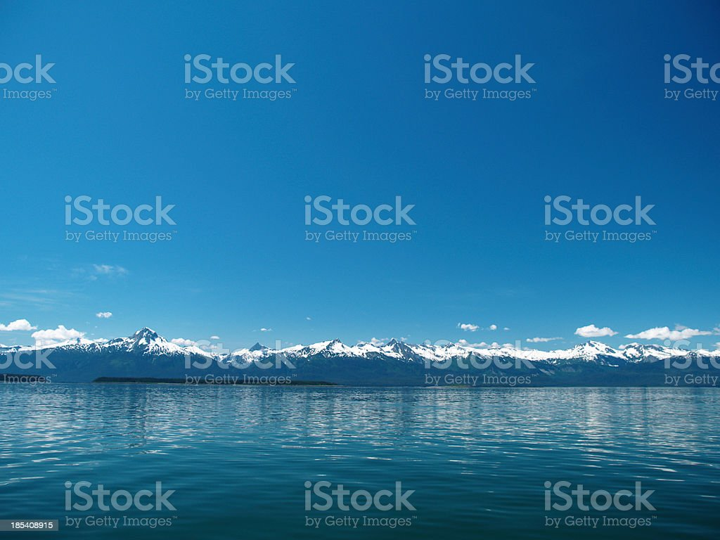 Lynn Canal waterscape stock photo