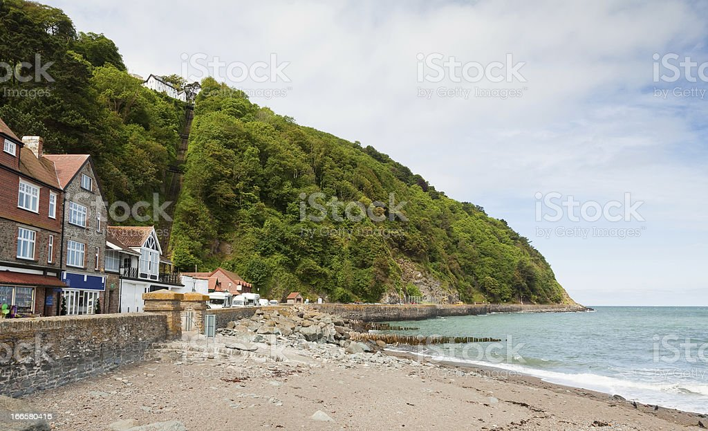 Lynton and Lynmouth Railway view of hillside stock photo