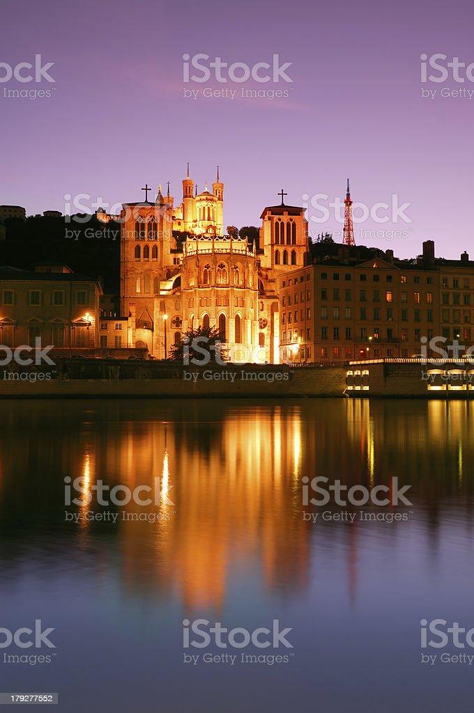 Lyon at dusk royalty-free stock photo