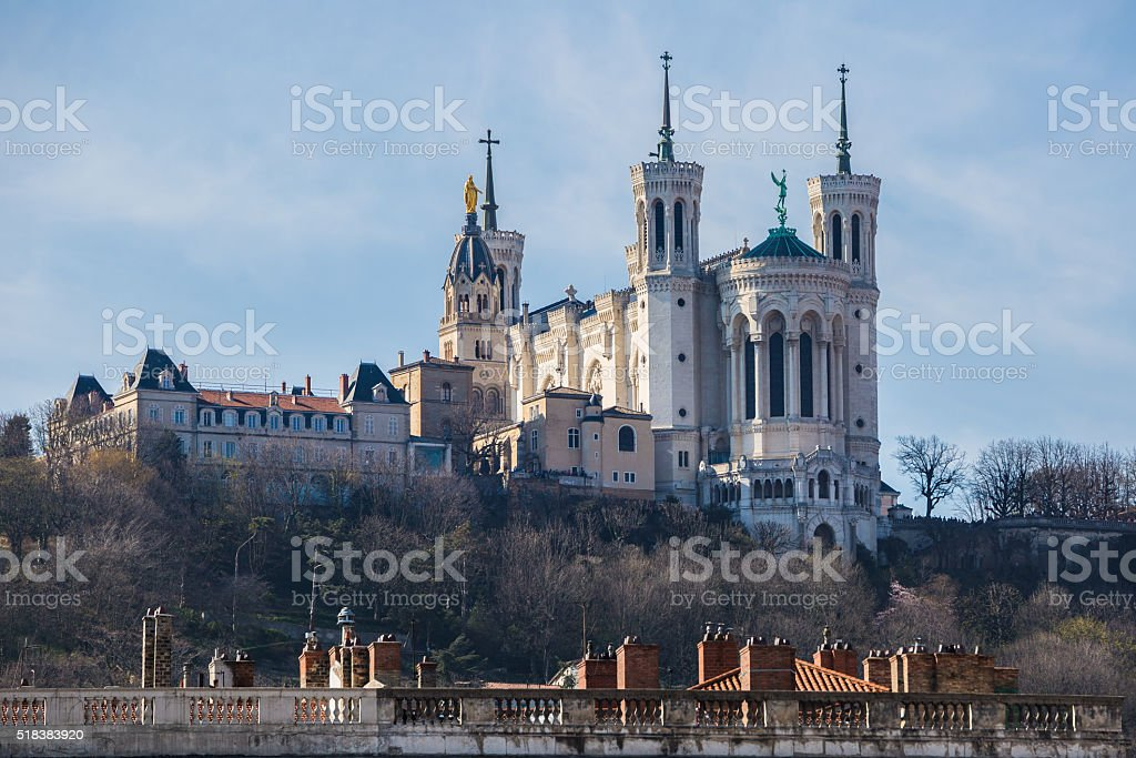 Lyon basilica stock photo