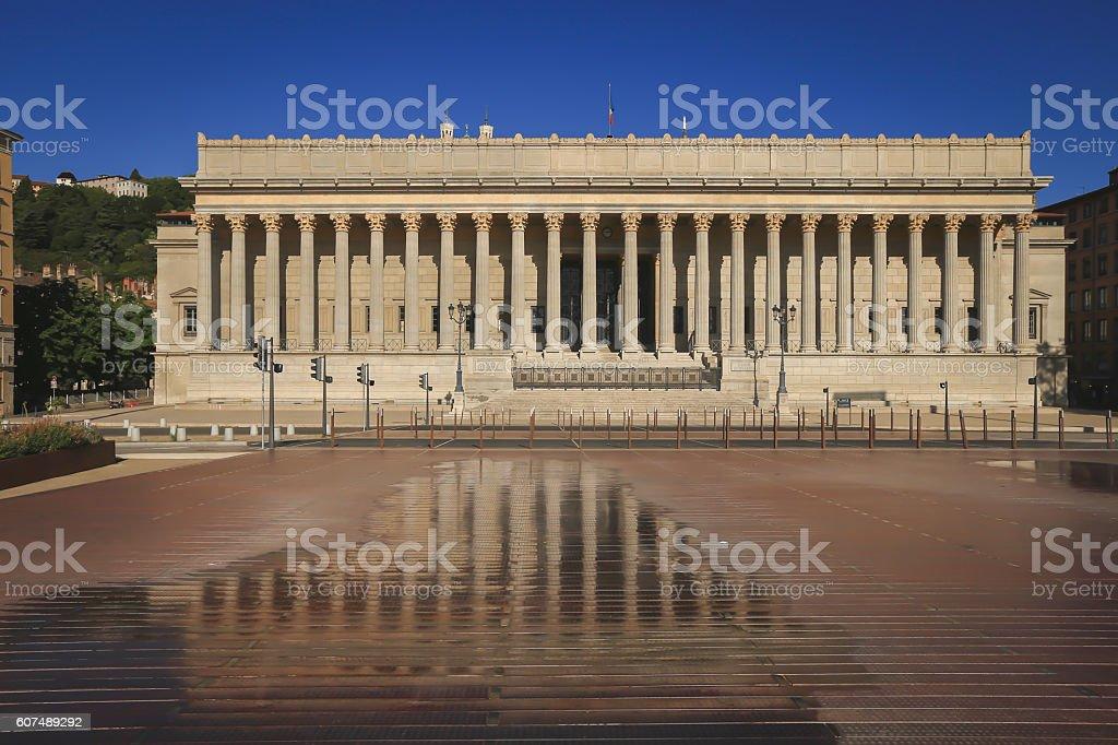 Lyon city stock photo