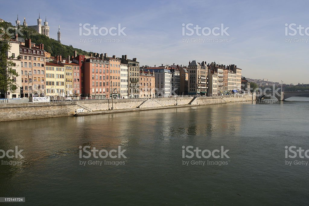Lyon Cityscape stock photo
