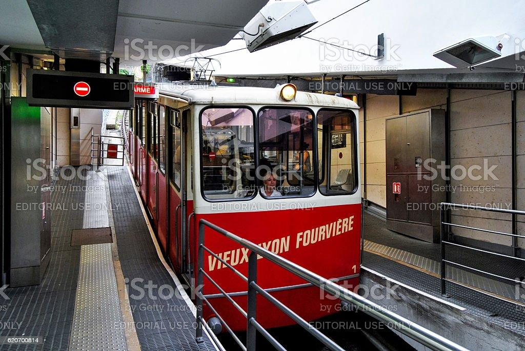Lyon, funicular to Fourviere stock photo