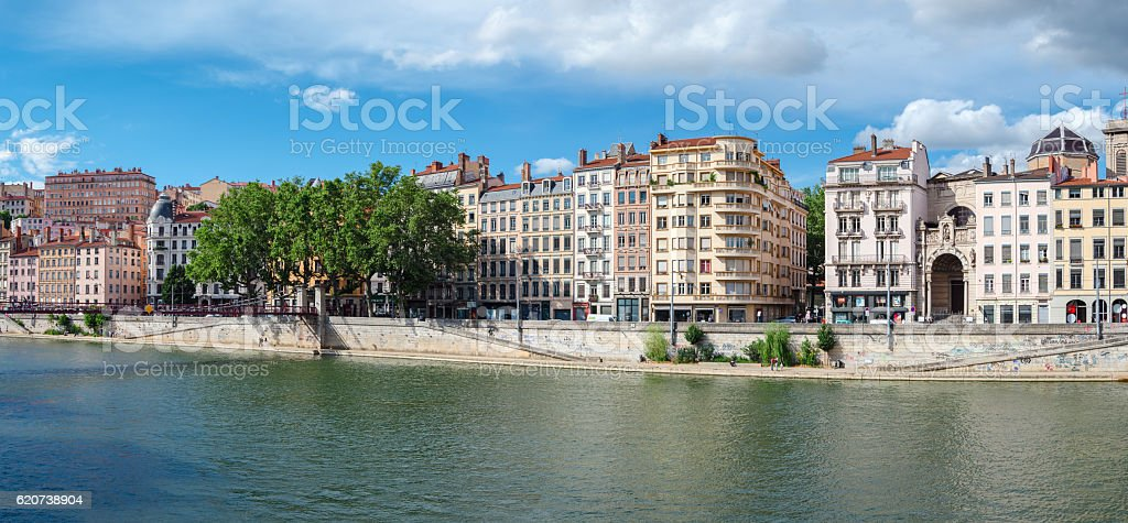 Lyon (France) old buildings in the historic city stock photo