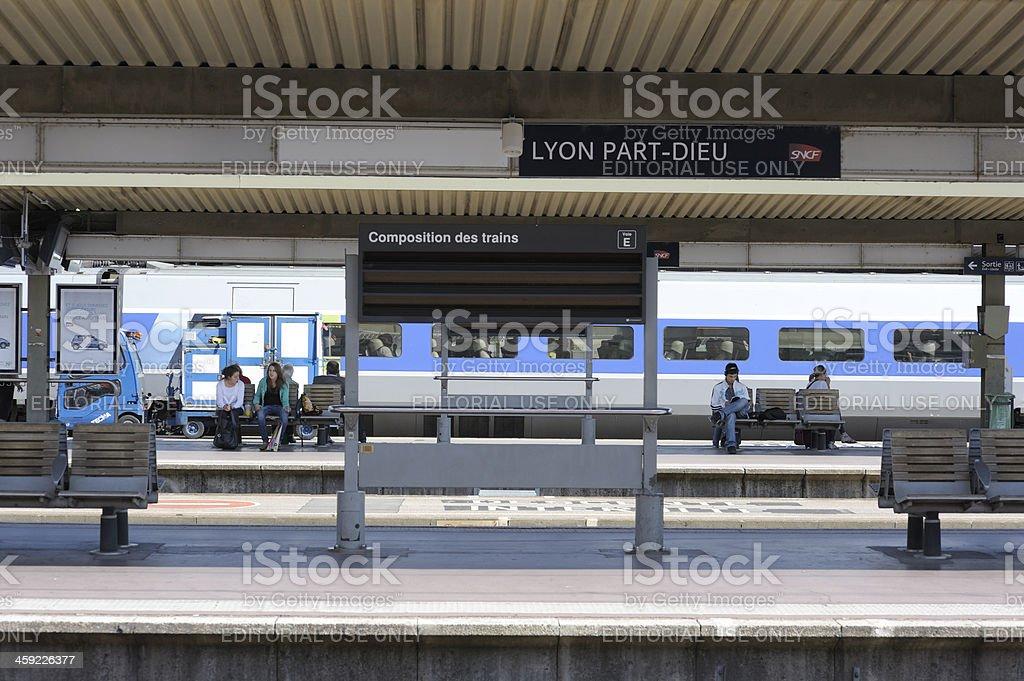 Lyon Part Dieu Station stock photo
