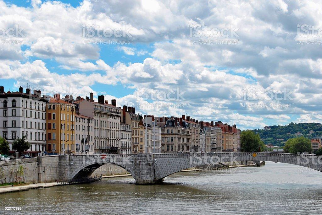 Lyon, river Saone stock photo