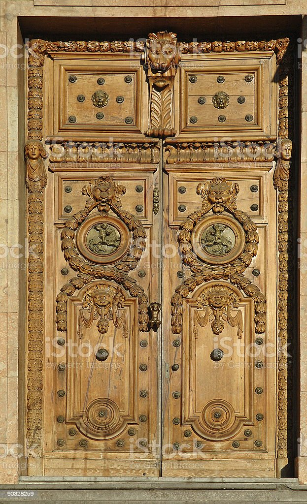 Lyon town hall door royalty-free stock photo