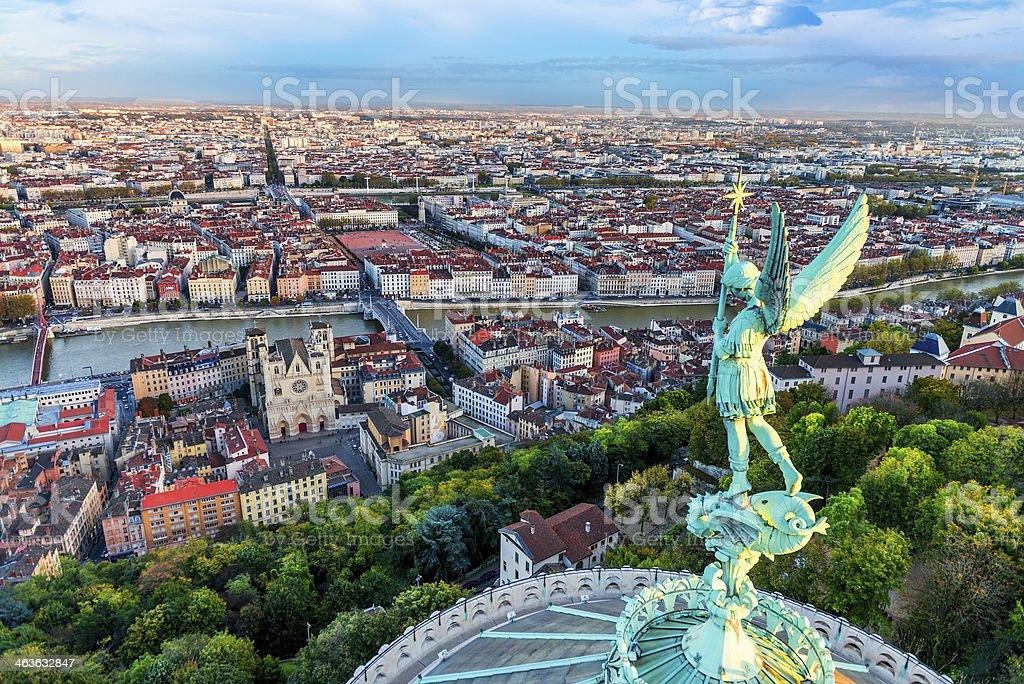 Lyon view royalty-free stock photo