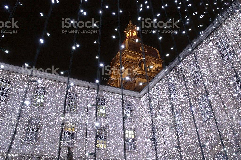 Lyon's Hotel-Dieu Hospital royalty-free stock photo
