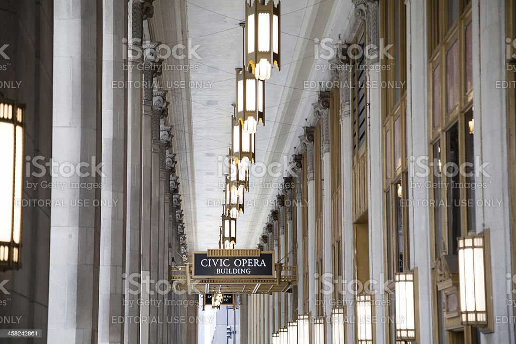 Lyric Opera of Chicago - Front Entrance stock photo