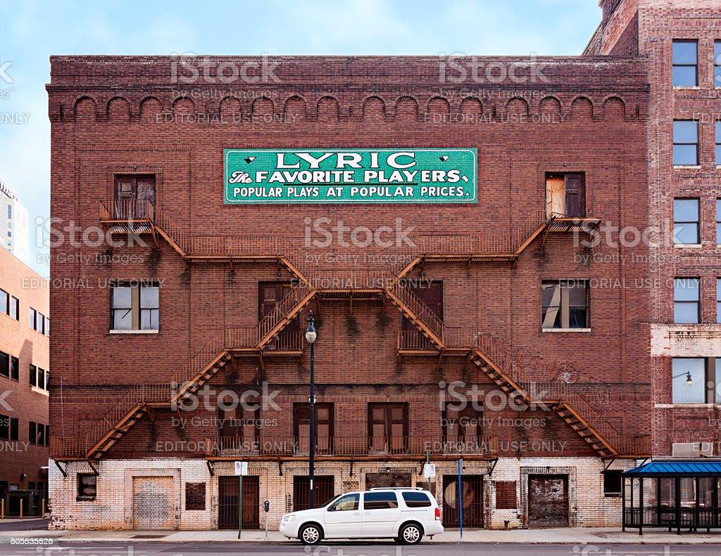 Lyric Theatre Sign stock photo