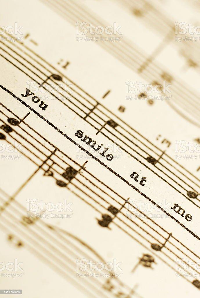 Lyrics royalty-free stock photo
