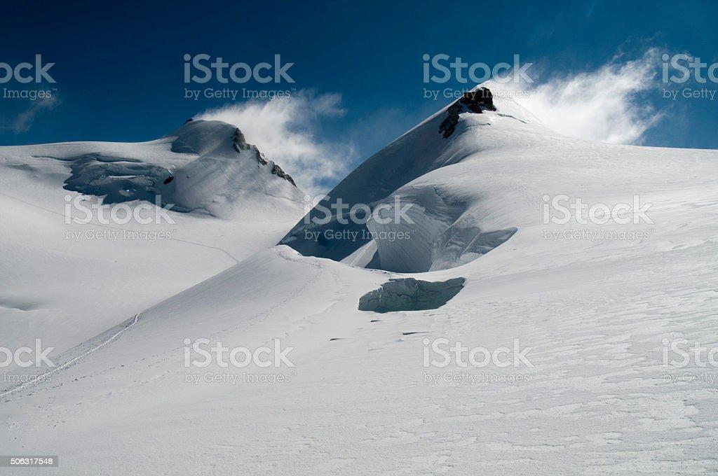 Lys Col Mount Rosa stock photo