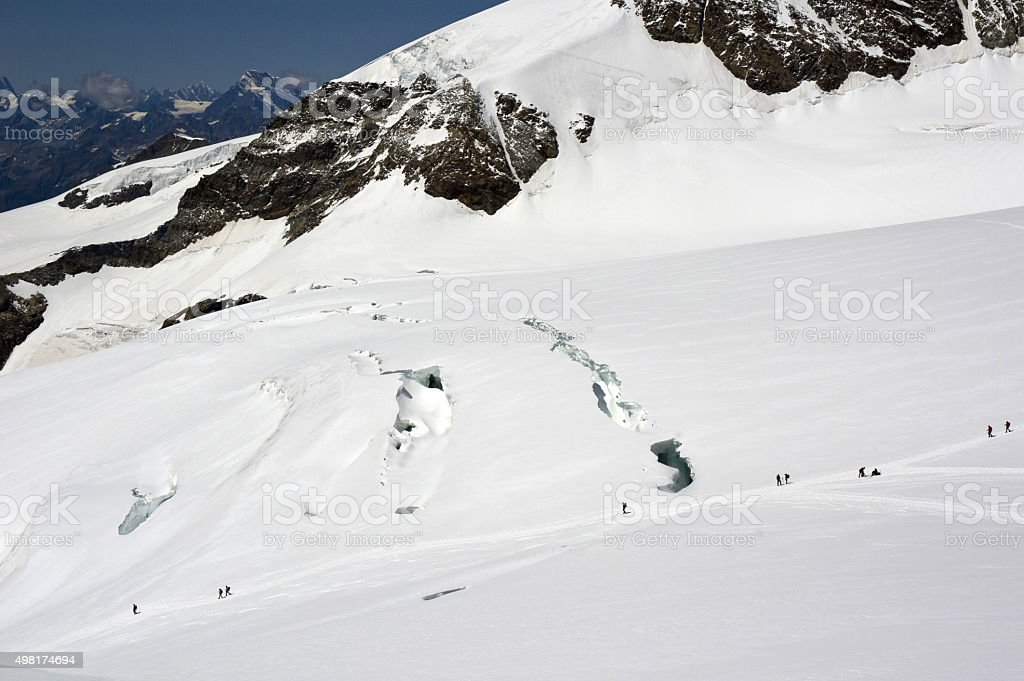 lys glacier stock photo