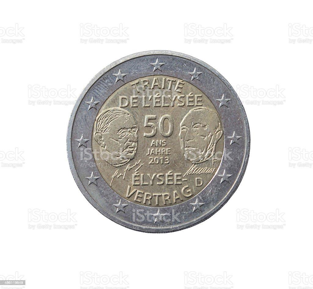 Élysée Treaty coin stock photo