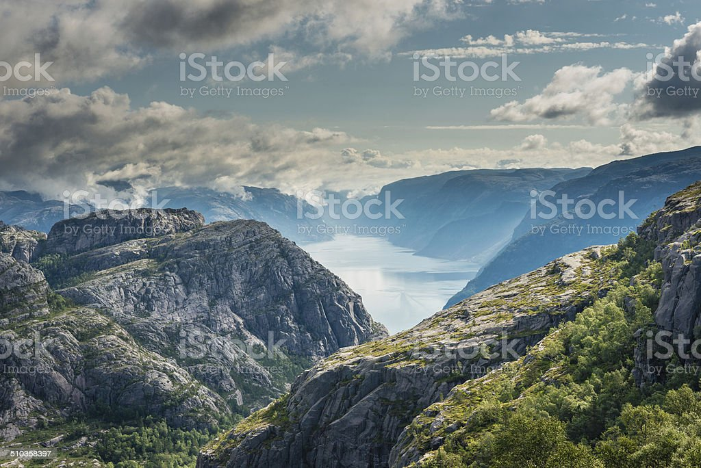 Lysefjorden stock photo