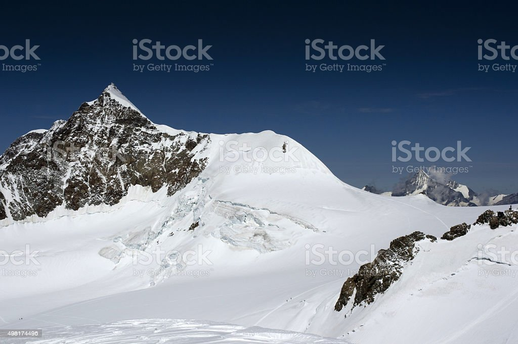 lyskamm stock photo