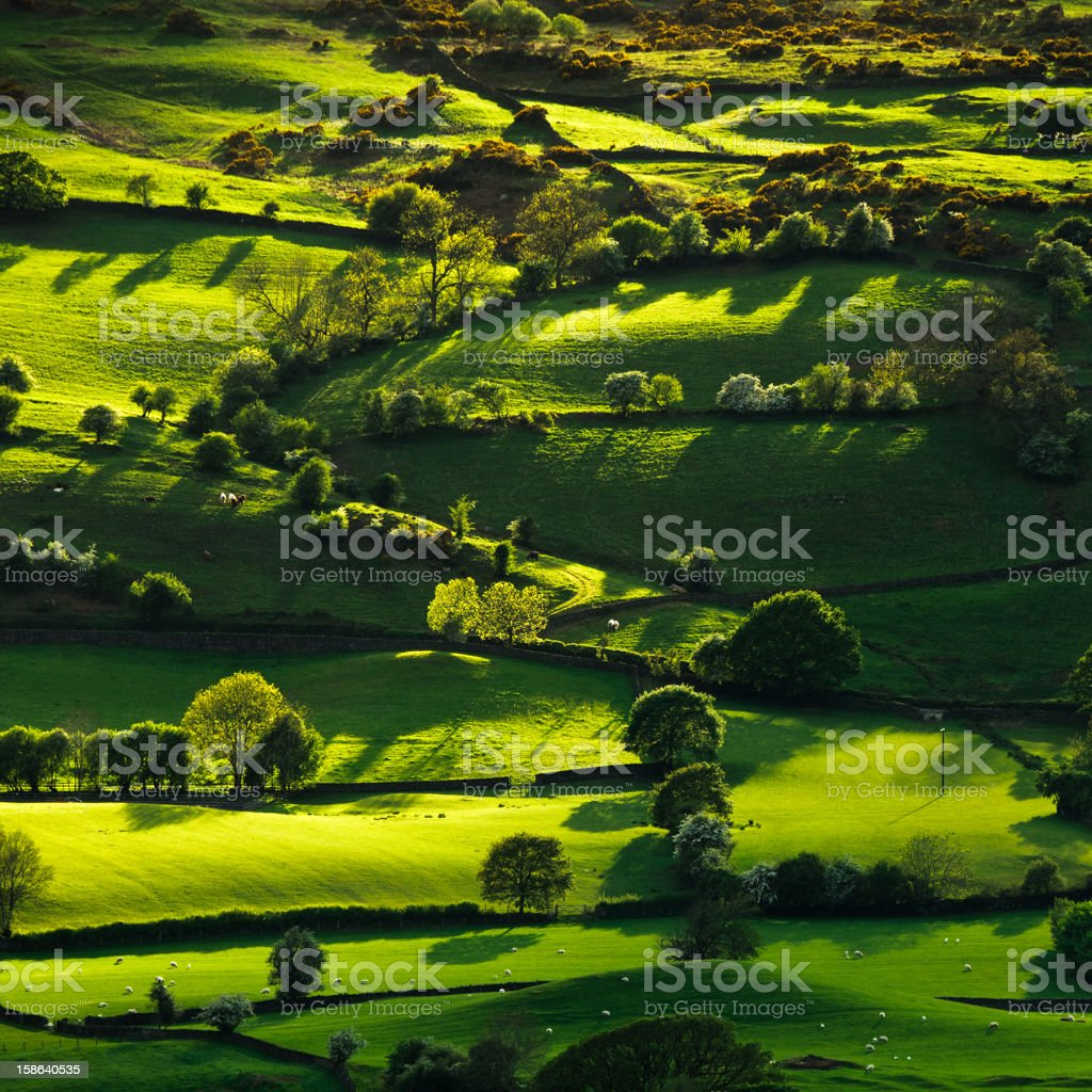 Lyth Valley in the English Lake District stock photo