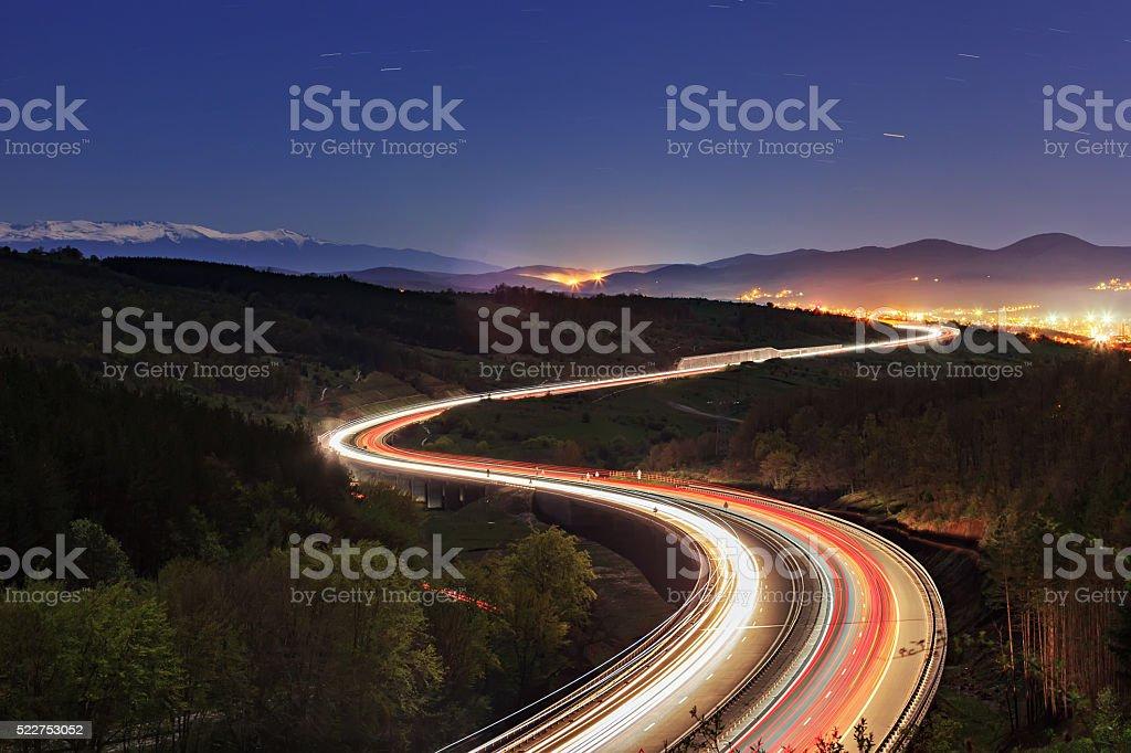 lyulin highway stock photo