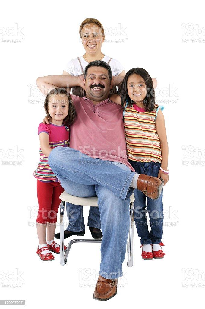 I'm a happy father. stock photo