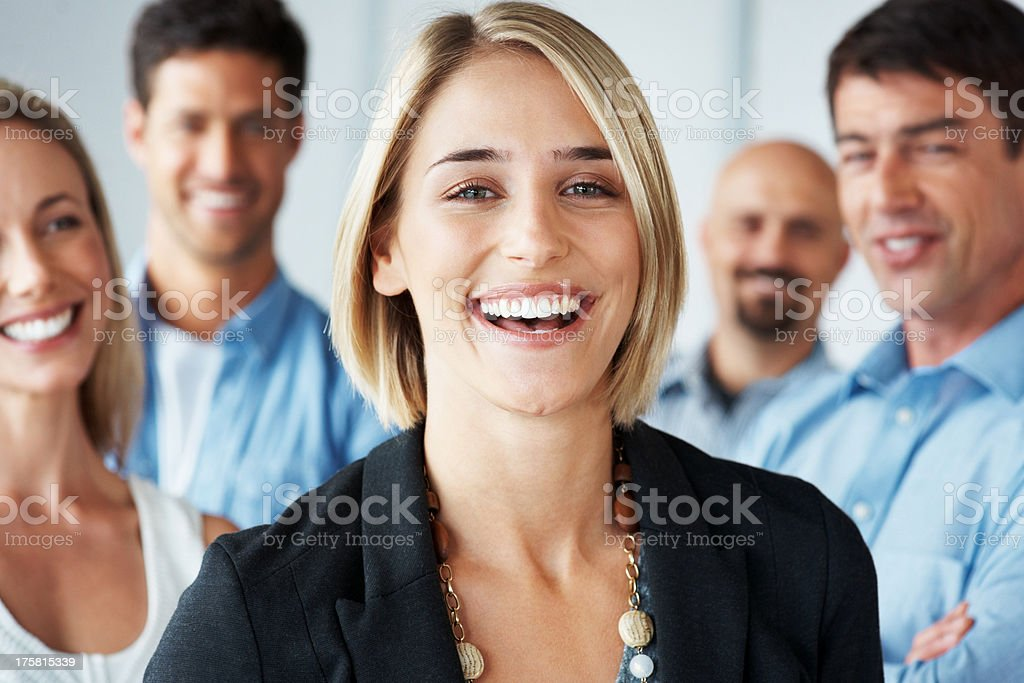 I'm a valued member of a dynamic team stock photo