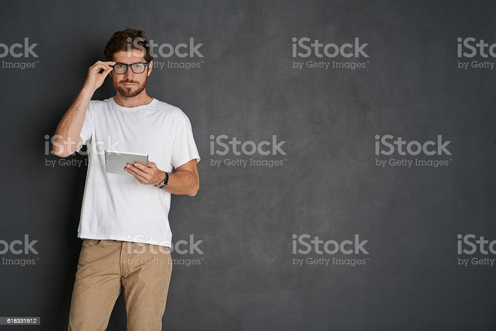 I'm all about my tech stock photo
