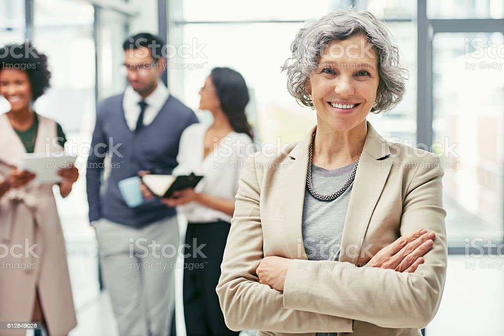 I'm always around and ready to get my hands dirty stock photo