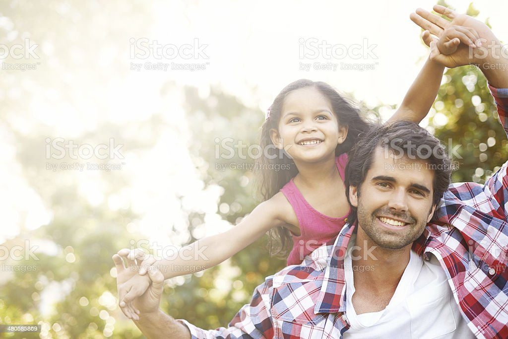 I'm always here to lift her up! stock photo