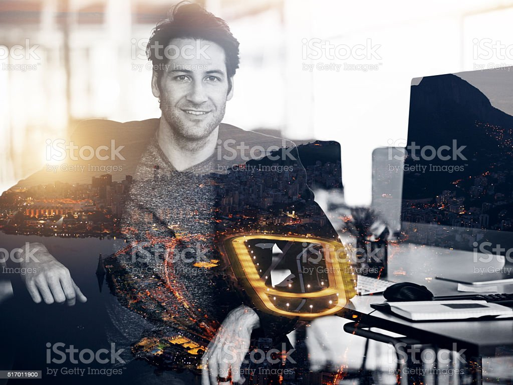 I'm always up for new things stock photo