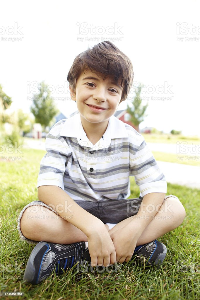 I'm an outdoor kind of kid! royalty-free stock photo