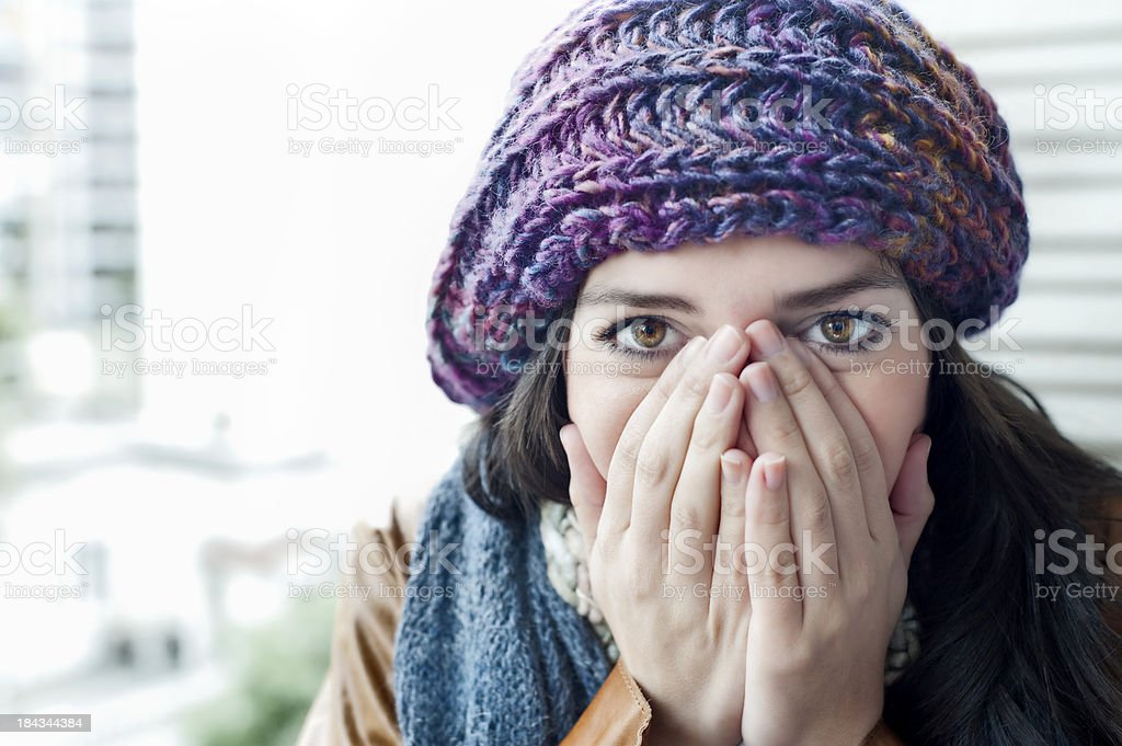 I'm cold royalty-free stock photo