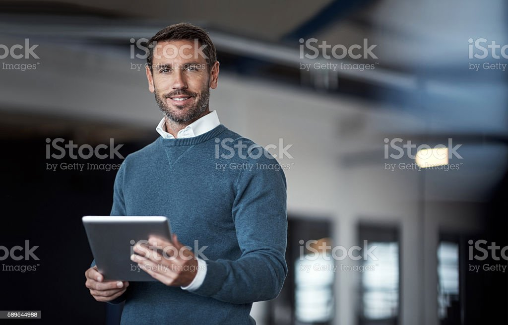 I'm confident in my success stock photo