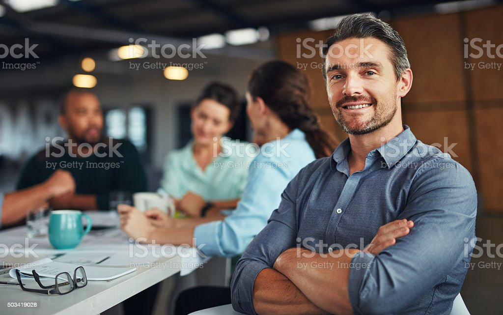 I'm confident in my team's ability to succeed stock photo