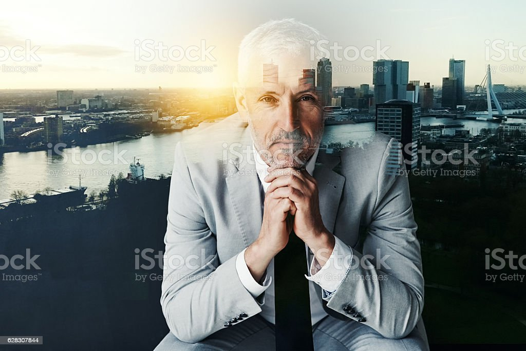 I'm confident that I can conquer this city stock photo
